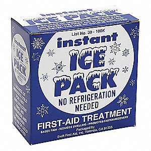 "9"" x 5"" White Instant Cold Pack, 1EA"