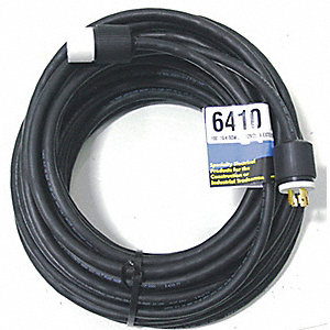 Indoor/Outdoor Extension Cord, 100 ft. Cord Length, 10/4 Gauge/Conductor, 30 Max. Amps