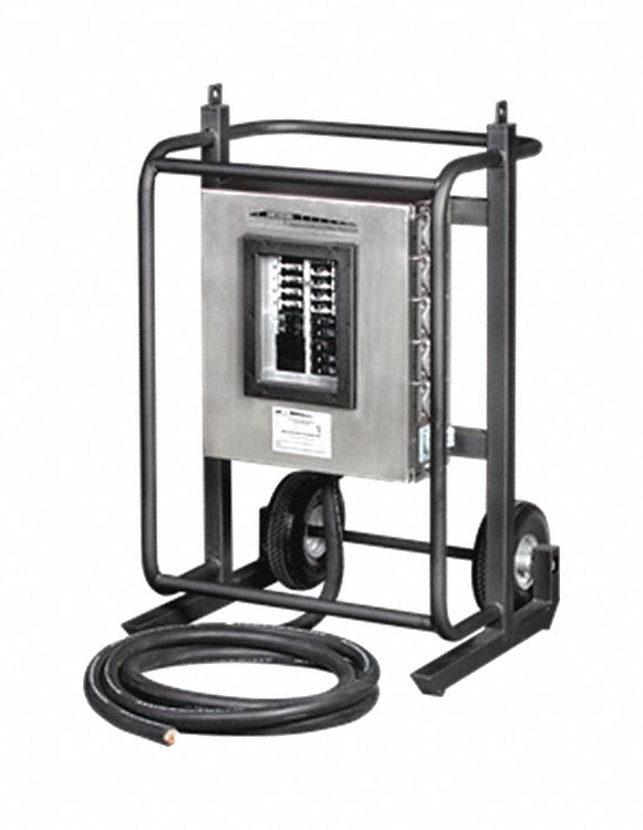 Temporary Power Distribution Boxes And Carts