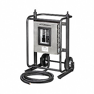 Power Distribution Cart, 120/208VAC Voltage Rating, 200 Amps, Number of Poles: 4