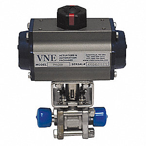 Actuated Ball Valve,2-1/2 In,316 SS