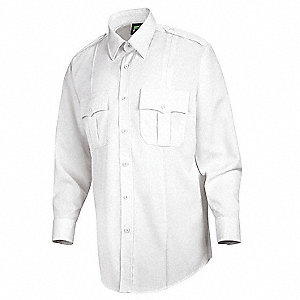 Deputy Deluxe Shirt, White, 18-1/2 In.