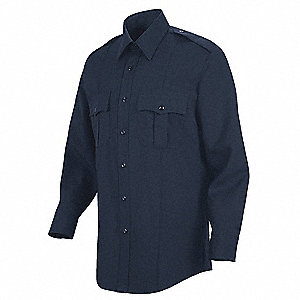 Deputy Deluxe Shirt, Navy, 15-1/2 In.