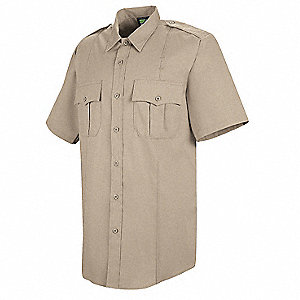 Deputy Deluxe Shirt, SS, Tan, 15 In.