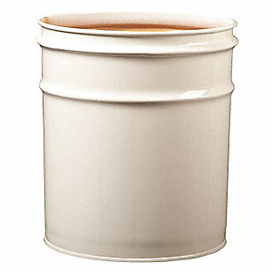 4.5 gal. White Steel Open Head Waste Receptacle Drum