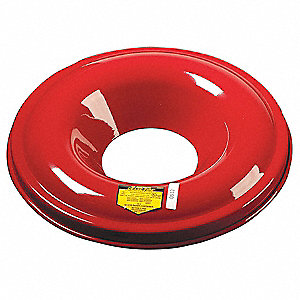 Utility Drum Top, Cease-Fire, Red, Metal