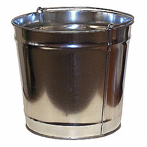 "4 gal. Silver Replacement Pail, 10"" Height"