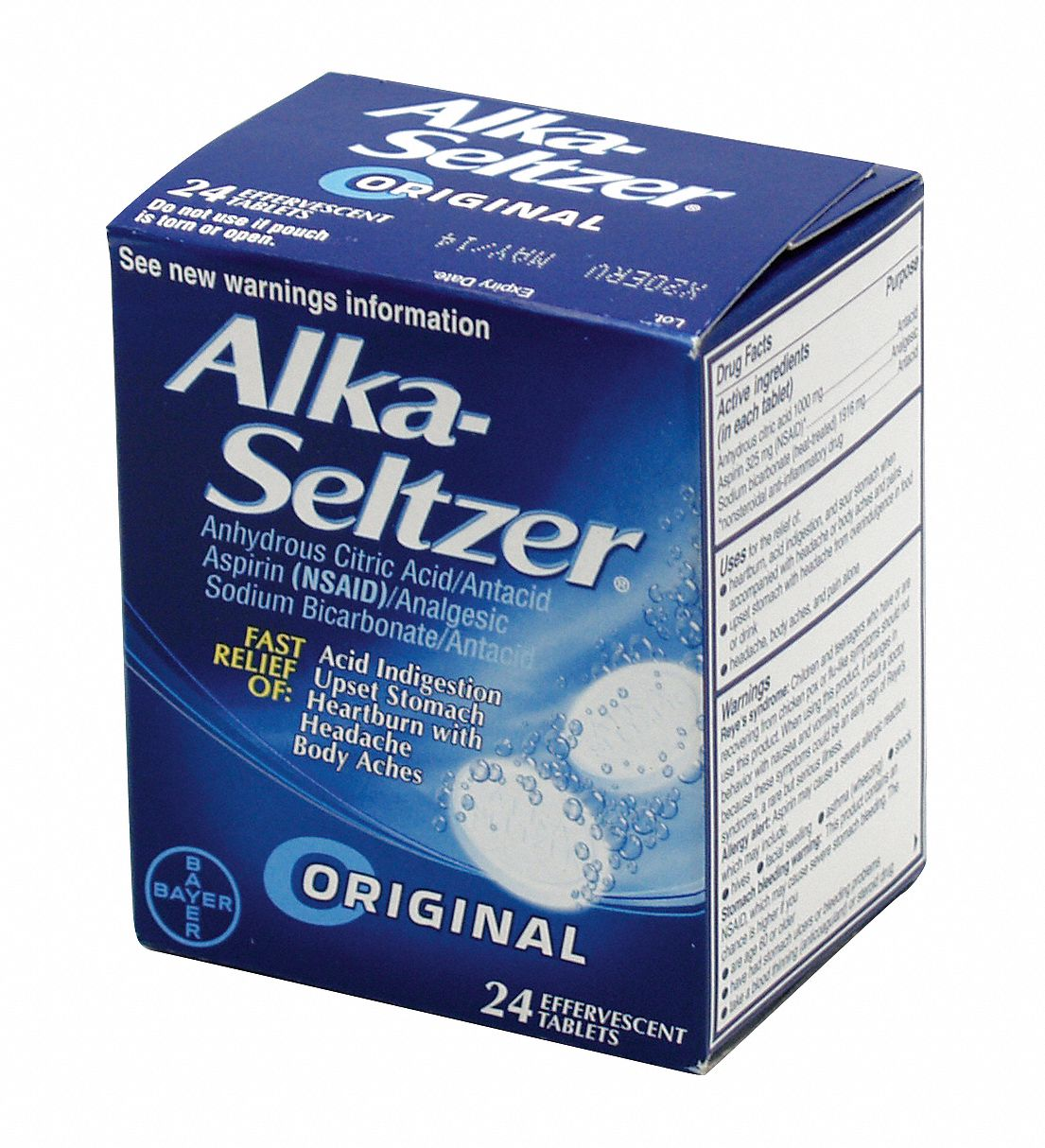 Alka-Seltzer Antacids and Indigestion, Tablet, 24 x 1, Regular Strength, Other