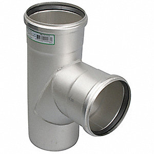 "Sanitary Tee, 3"" x 3"" x 2"" Pipe Size - Pipe Fitting"