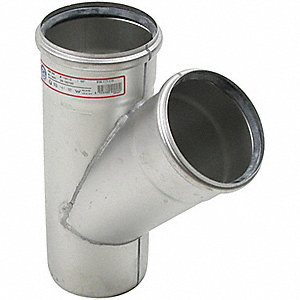 "Wye, 45°, 3"" Pipe Size - Pipe Fitting"