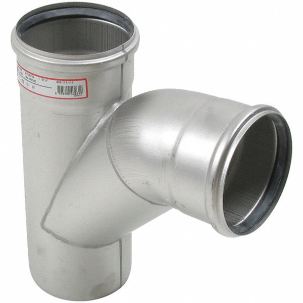 Blucher combination wye bend quot pipe size fitting