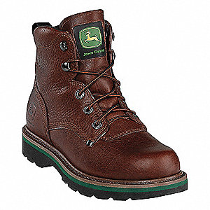 "6""H Men's Boots, Steel Toe Type, Brown, Size 11M"
