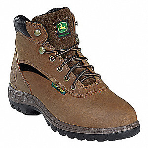 "5""H Women's Hiking Boots, Steel Toe Type, Tan, Size 5M"