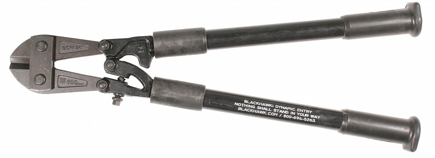 Fiberglass Bolt Cutter,24 in Overall Length,7/32 in Hard Materials up to Brinnell 455/Rockwell C48