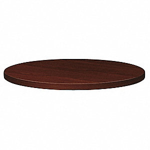 Round Table Top,30 In,Mahogany
