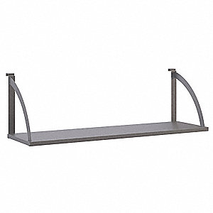 Hanging Shelf 48In W,Light Gray