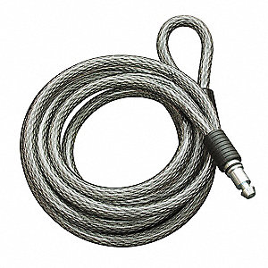 Spare Cable Lock,8 Ft,10mm D,For 14R887