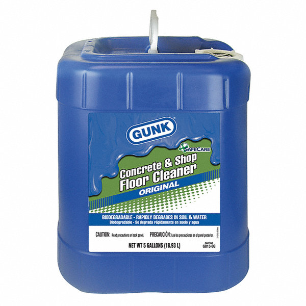 Gunk concrete floor cleaner 1 ea 14r914 gb13 5g grainger for Concrete floor degreaser