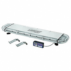 Red Low Profile Light Bar, GEN III LED Lamp Type, Bracket Mounting, Number of Heads: 22