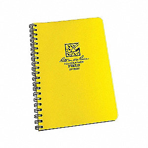 SPIRAL NOTEBOOK  NUMBERED FIELD