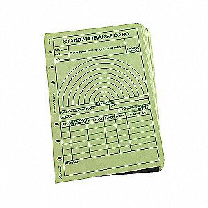 LOOSE LEAF  RANGE CARD GREEN