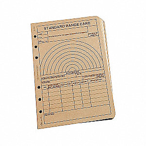 LOOSE LEAF  TAN  RANGE CARD