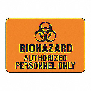 SAFETY SIGN BIOHAZARD VINYL