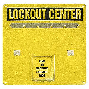 LO CENTER 6-LOCK EMPTY ALUM HANGER