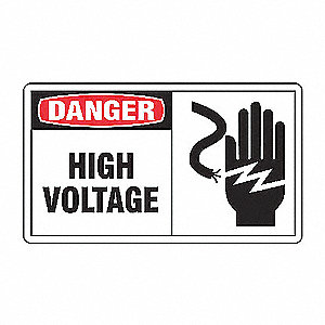 SAFETY LABEL HIGH VOLTAGE VINYL