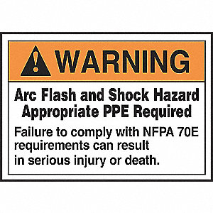 SAFETY LABEL ARC FLASH VINYL