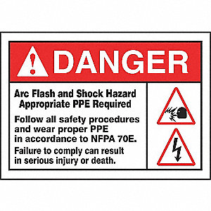 SAFETY LABEL ARC FLASH VINYL