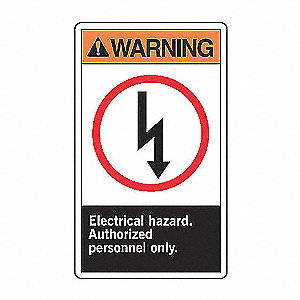 WARN LBL ELECT HAZ 5X3 1/2
