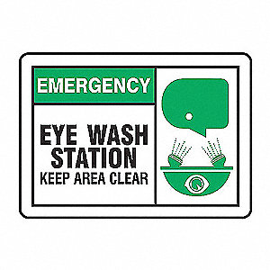 EMER LBL EYE WASH STATN 3 1/2X5