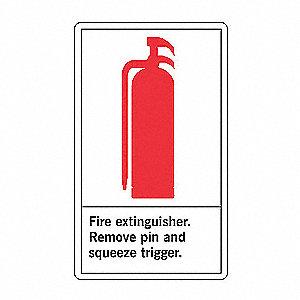 FIRE SFTY LBL FIRE EXTG 5X3 1/2