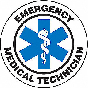 HARD HAT LABEL EMERG MED TECH EMT
