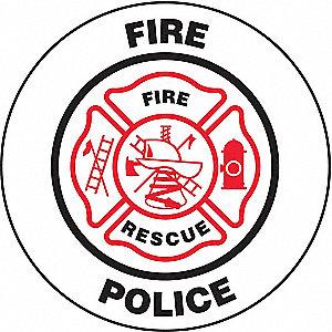 HARD HAT LBL REFLECT FIRE/POLICE