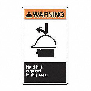 WARN LBL HARD HAT REQD 5X3 1/2