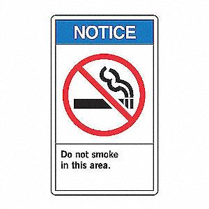NOTC LBL DO NOT SMOKE 5X3 1/2