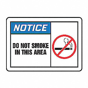 NOTC LBL DO NOT SMOKE 3 1/2X5