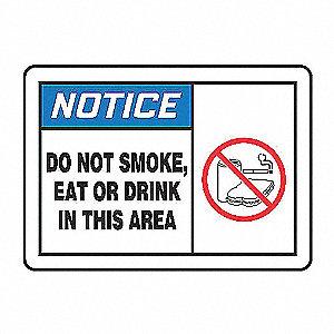 NOTC LBL DO NOT SMOKE 3 1/2X5