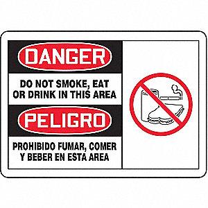 DGR LBL DO NOT SMOKE BLD 3 1/2 X5