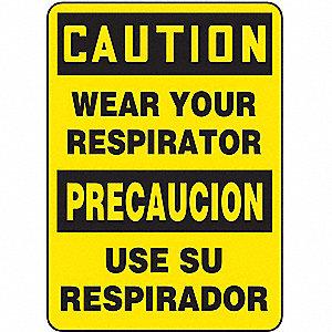 CAUT LBL WEAR RESP ENG/SP 3 1/2X5