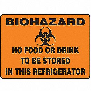 SAFETY SIGN BIOHAZARD NO FOOD VIN