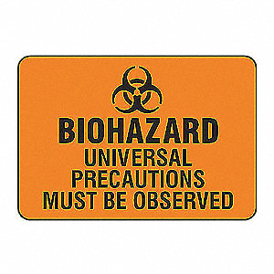 SAFETY SIGN BIOHAZARD UNIVERS VIN
