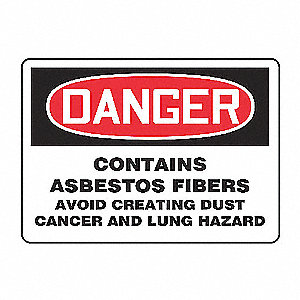 SAFETY SIGN CONTAINS ASBESTOS PLA