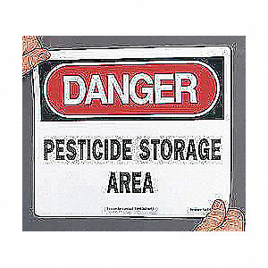 SAFETY SIGN PESTICIDE STORAGE PLA