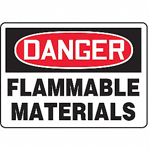SAFETY SIGN FLAMMABLE MAT PLASTIC