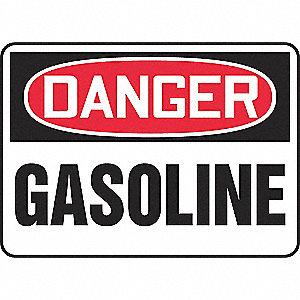 SAFETY SIGN GASOLINE VINYL