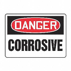 SAFETY SIGN CORROSIVE VINYL