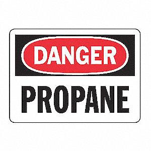 SAFETY SIGN PROPANE VINYL